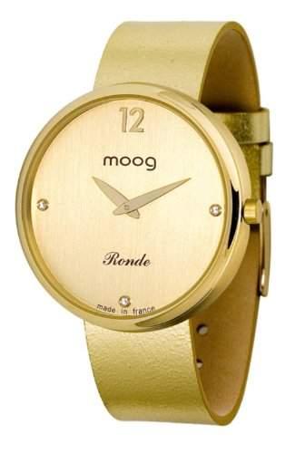 Moog Damen-Armbanduhr Analog Leder gold M41671-016