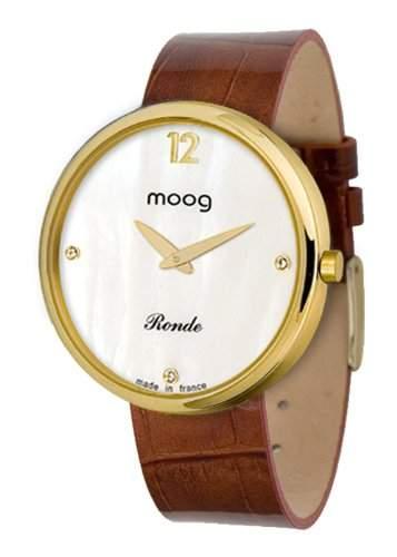 Moog Damen-Armbanduhr Analog Leder braun M41671-018