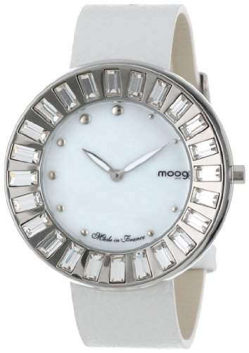 Moog Paris Damen XWA3654-CD-01 Analog Swarovski Elements Bezel Armbanduhr