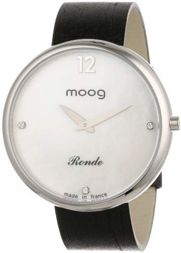 Moog Paris Damen XWA3659W-PM-122A Analog Swarovski Elements Markers Armbanduhr
