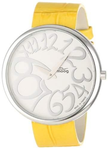 Moog Damen-Armbanduhr Analog Leder gelb M41671-013