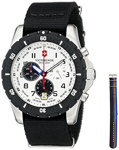 Swiss Army Maverick Sport Quartz Chronograph Steel Mens Watch Nylon Strap 241680 1
