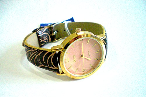 Sami rsm 81210 4 Uhr Damen Armband Krone Glas Leder Armband Marron