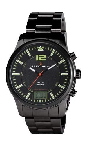 Precision Herren-Armbanduhr Edelstahl beschichtet Schwarz PREW1114