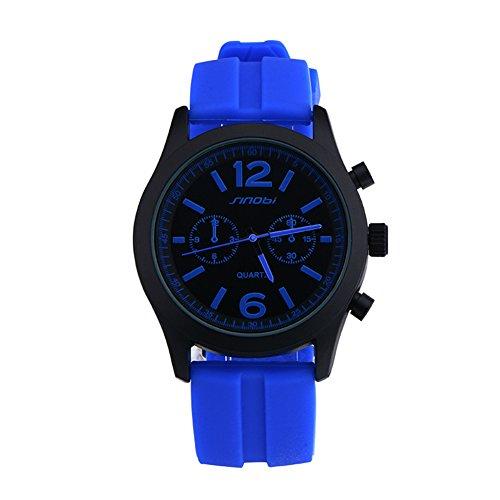 SINOBI Blau Sport Quarz Armbanduhr Uhren Herren Silikon Armbanduhr Man Teenage Jungen Uhren