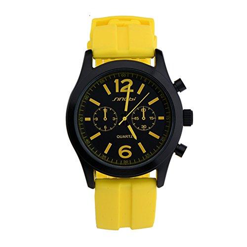 SINOBI gelb Sport Man s Armbanduhr Silikon Quarz Uhren Herren Teenage Jungen Radfahren Uhren