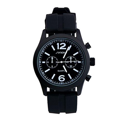 SINOBI Schwarz Sport Quarz Armbanduhr Uhren Herren Silikon Armbanduhr Man Teenage Jungen Uhren
