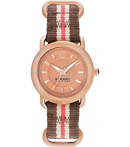 Sperry 103061 Frauen Multicolor Nylonband Rose Gold Zifferblatt Smart Watch