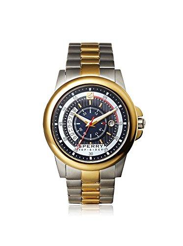 Sperry 103190 Herren Edelstahl Zwei Ton Armband Band Schwarz Dial Smart Watch