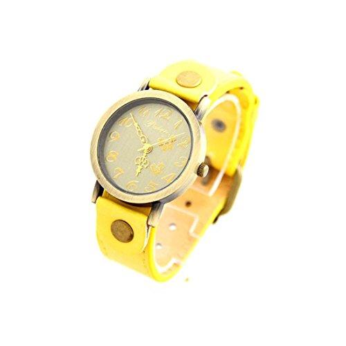 Leder gelb Vintage nicht teuer 2871