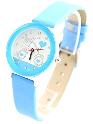 mit Leder blau Vintage 371