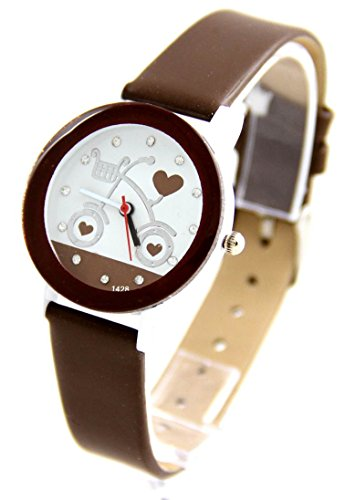 Zeigt Damen Armband Leder Schokolade Vintage 2958