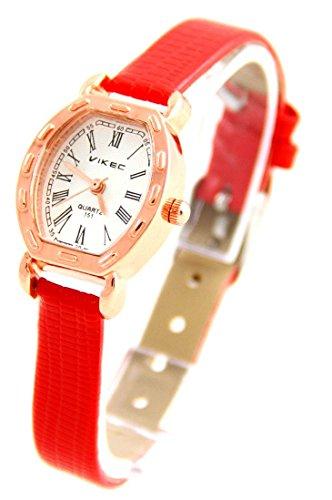Zeigt Damen Leder rot Vintage 793
