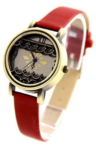 Zeigt Damen Leder rot Vintage 1347