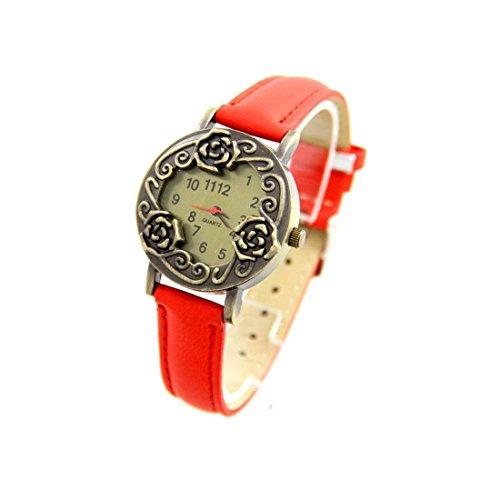 Zeigt Damen Leder rot Vintage 2870