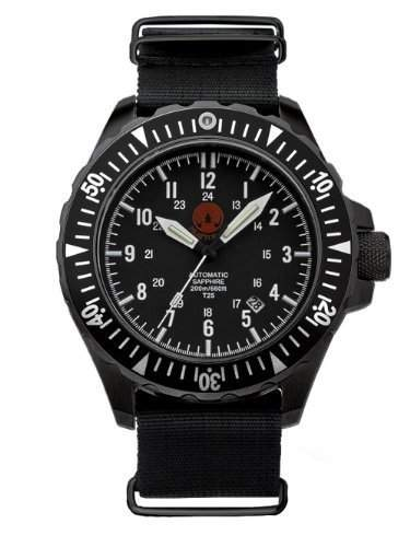 PRAETORIAN Signifer Black Automatik Diver - Nato Armband