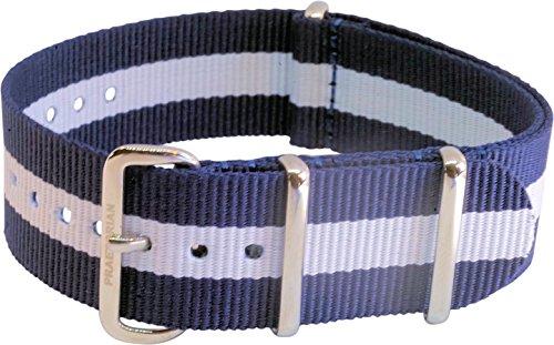 Praetorian NATO Armband Navy Blue White 20mm