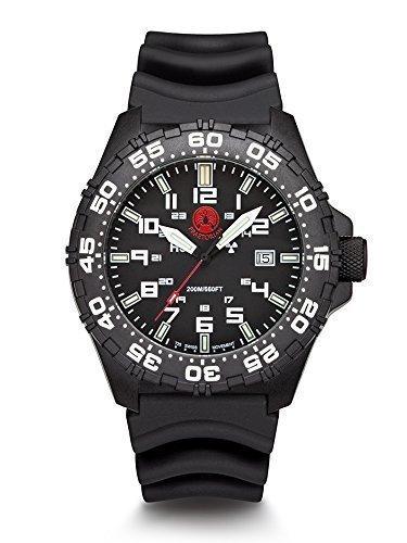 Praetorian SOCOM Black Diver Armband 20 Bar Trigalight Sekundenzeiger H3 Tritium Uhr