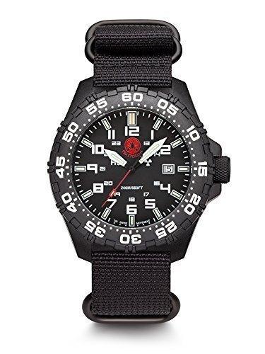 Praetorian SOCOM Black Divertec Zulu Armband 20 Bar Trigalight Sekundenzeiger H3 Tritium Uhr