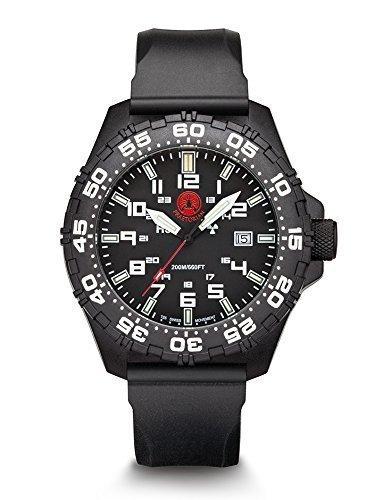 Praetorian SOCOM Black Silikon Armband 20 Bar Trigalight Sekundenzeiger H3 Tritium Uhr