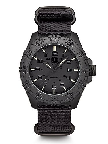 Praetorian SOCOM Phantom Divertec Zulu Armband 20 Bar Trigalight Sekundenzeiger H3 Tritium Uhr