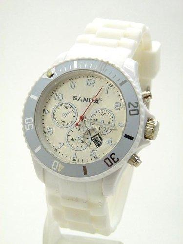 Knall Weisse Uhr mit Datum K94