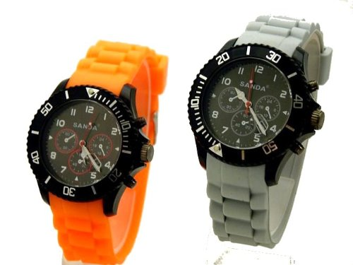 2 Stueck Sanda Sport Chronos Orange Grau