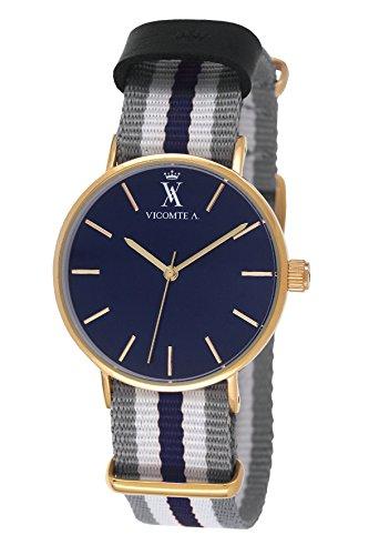 Vicomte A Herren Armbanduhr Analog Quarz Nylon VA 020 1G6