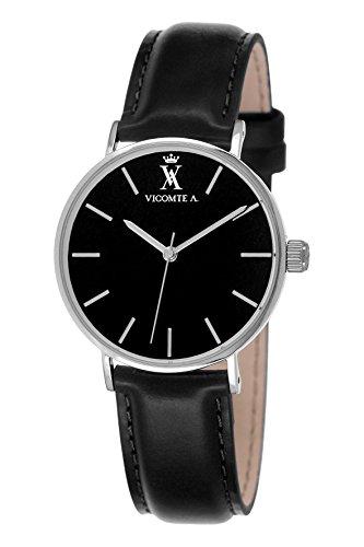 Vicomte A Herren Armbanduhr Analog Quarz Leder VA 021 AA