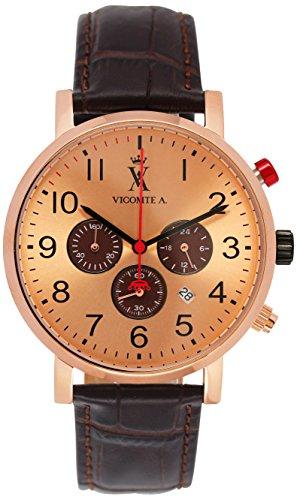 Vicomte A Herren Armbanduhr Analog Quarz Schokolade VA 016 2TU