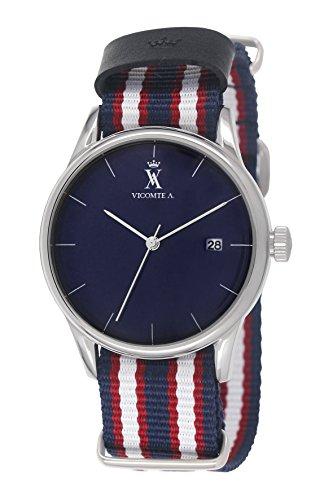 A Vicomte VA 022 G3 Herren Uhr Quarz analog Armband Nylon Blau