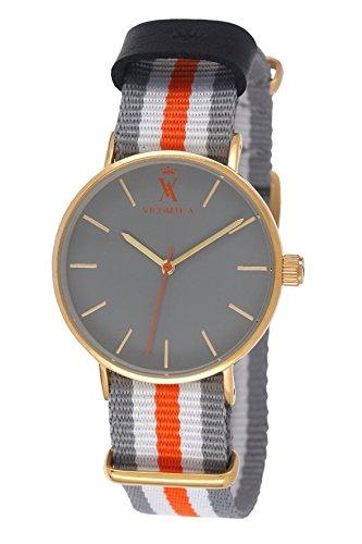 Vicomte A VA 020 1C5 Herren Armbanduhr Alyce Quarz analog Armband Nylon mehrfarbig