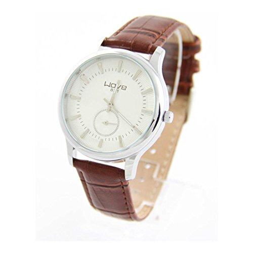 Armbanduhr Leder braun Wave 2364