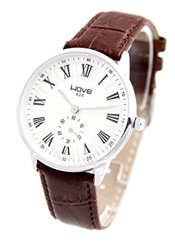 Armbanduhr Leder braun Wave 25