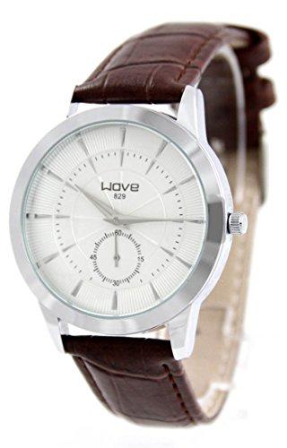 Armbanduhr Leder braun Wave 687