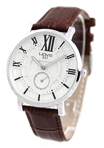Armbanduhr Leder braun Wave 789