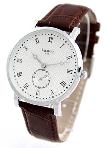 Armbanduhr Leder braun Wave 822