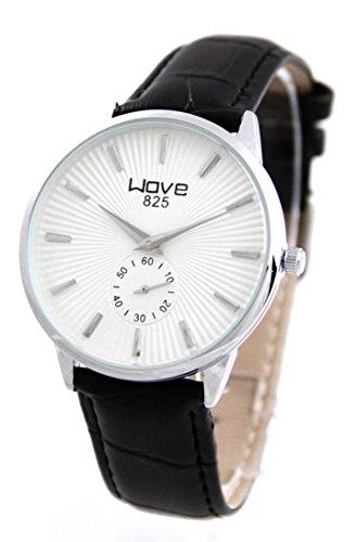 Armbanduhr und Leder schwarz Wave 1034