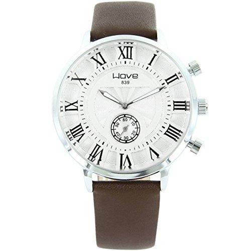 Wave zeigt Herren Armbanduhr Leder braun Wave 1743
