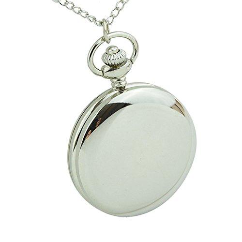 topwell Klassische 4 5 cm Groesse Silber Politur Quarz Herren Taschenuhr relogio de Bolso Geschenk Quarzuhr