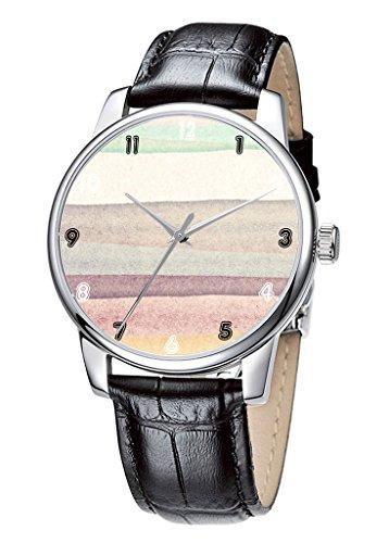 Topgraph Uhren Elegante Ladies Dress Analog Quarzuhr Einfache Farb Breite des Armbands 14mm