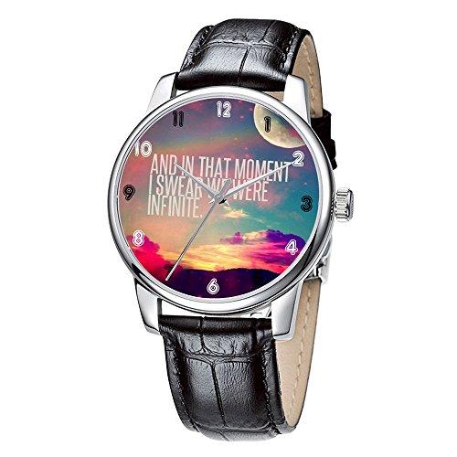 Topgraph Uhren Herren Damen Unisex Armbanduhr Elegant Uhr Leder Infinite
