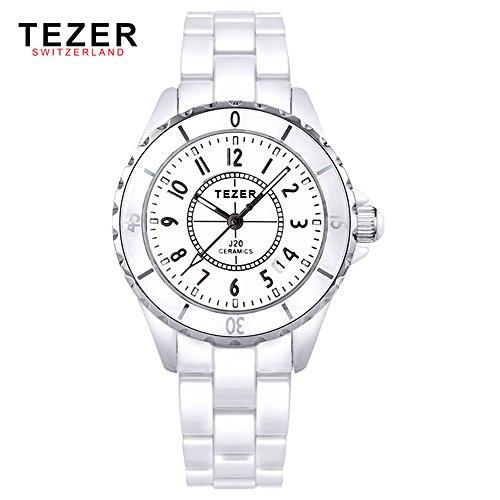 Tezer Fashion Keramik Handgelenk Uhren T5002