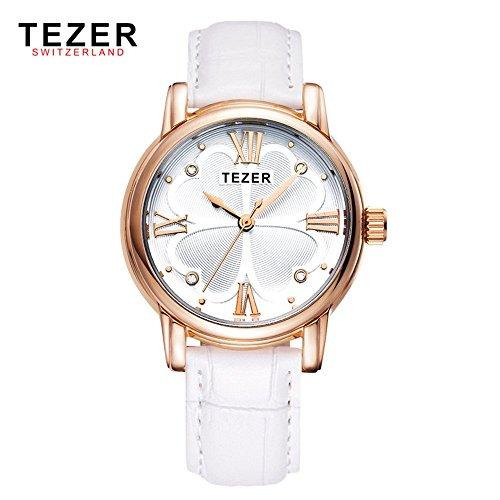 Tezer New Fashion Damen Rom Nummer wasserabweisend Handgelenk Uhren T2013