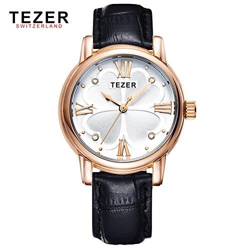 Tezer New Fashion Damen wasserabweisend Rom Nummer Handgelenk Uhren T2013