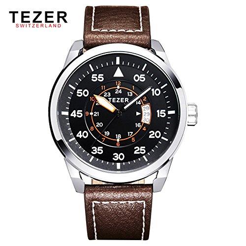 Tezer Fashion wasserabweisend Sport Herren Handgelenk Uhren mit Big Zifferblatt T2015