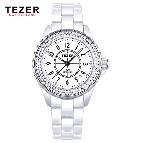 Tezer New Fashion Quarz Keramik Armbanduhr T5002
