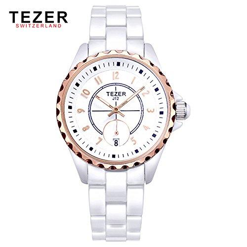 Tezer New Fashion Quarz Simple Armbanduhr mit Pink Ton T5002