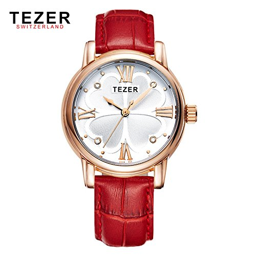 Tezer New Fashion Quarz wasserabweisend Rom Nummer Handgelenk Uhren T2013