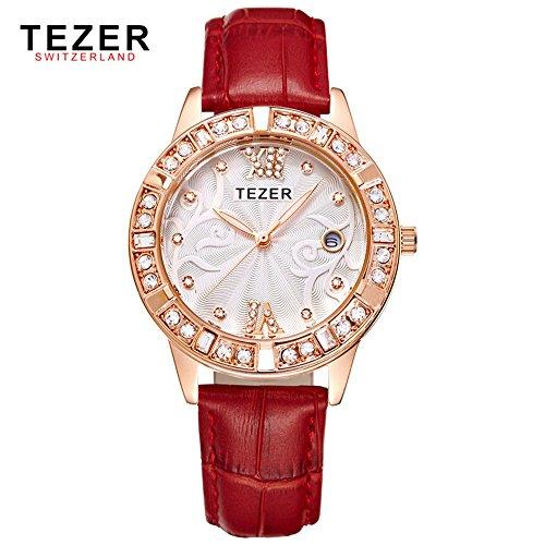 Tezer New Fashion Quarz wasserabweisend Handgelenk wathes T2012